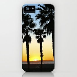 HB Palms & Sunset iPhone Case