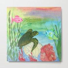 Sea Turtle Shores Metal Print