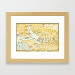 Vintage Map of Olympia Greece (1894) Framed Art Print