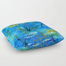 I got the blues Floor Pillow