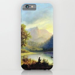 Mountain Lake 1852 By Lev Lagorio   Reproduction   Russian Romanticism Painter iPhone Case