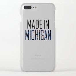 Made In Michigan Clear iPhone Case