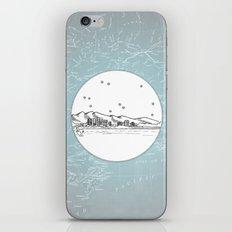 Anchorage, Alaska City Skyline Illustration Drawing iPhone & iPod Skin
