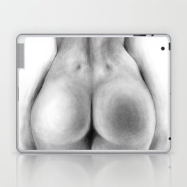 Back Dimples | Sexy Girl | Woman | Female | Graphite Drawing | Back and white Laptop & iPad Skin