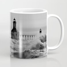 Lake Michigan's Fury - St. Joseph Lighthouses Coffee Mug