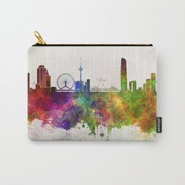 Tianjin skyline in watercolor background Carry-All Pouch