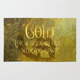 GOLD for a bride in her wedding gown. Shadowhunter Children's Rhyme. Rug