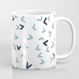 White, Navy and Light Blue Birds Coffee Mug