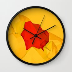 red gem of the golden mountain Wall Clock