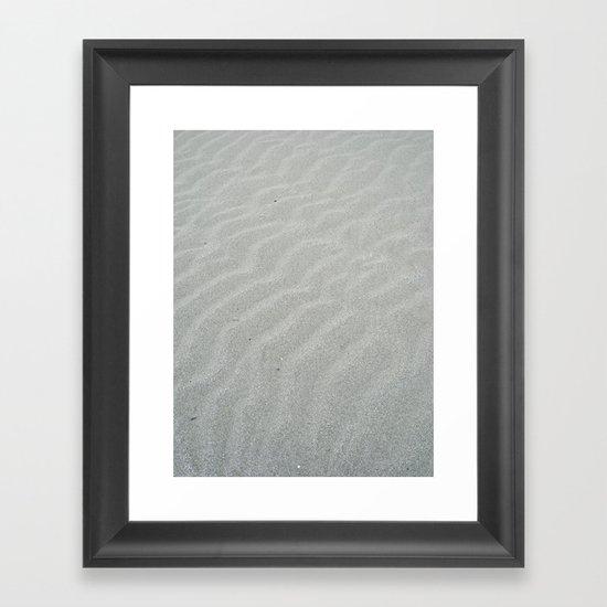 Natural wave patern Framed Art Print