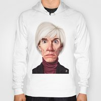 celebrity Hoodies featuring Celebrity Sunday ~ Andy Warhola by rob art | illustration