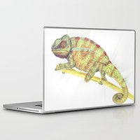 chameleon Laptop & iPad Skins featuring chameleon by merry
