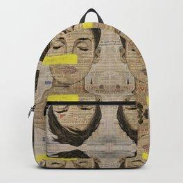 Bad Days Girl on Newspaper Backpack