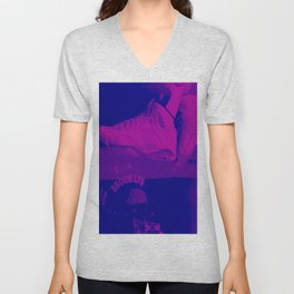purple thoughts in thought Unisex V-Neck