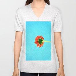 Flower orange 6 Unisex V-Neck