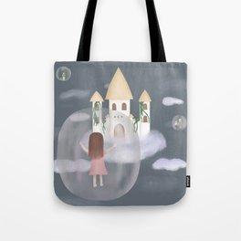 Girl in bubble Tote Bag