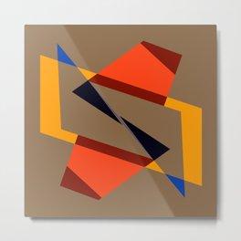 geometric symmetry orange and yellow Metal Print