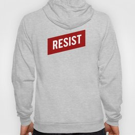 RESIST red white bold anti Trump Hoody