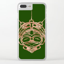Copper Frog Grass Clear iPhone Case