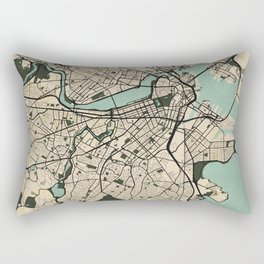 Boston City Map of the United States - Vintage Rectangular Pillow