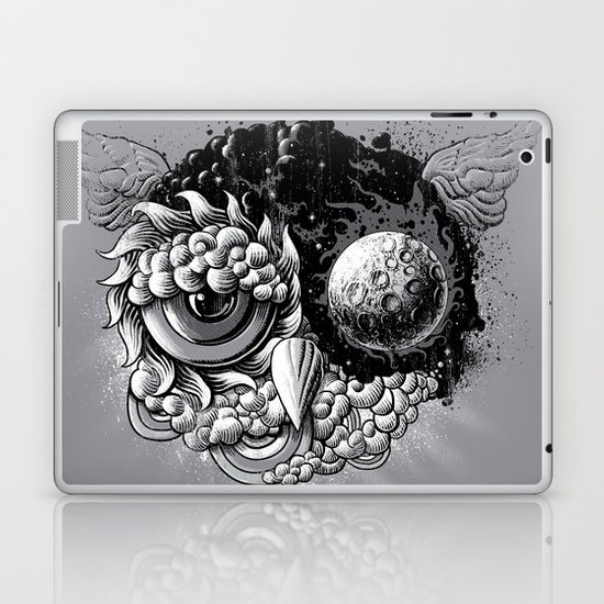 Owl Day & Owl Night Laptop & iPad Skin