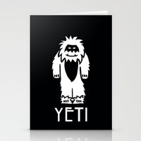 yeti Stationery Cards featuring Yeti by French Press Mornings