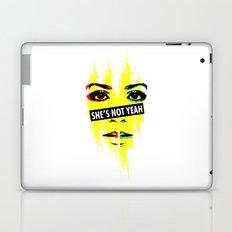 SHE'S NOT YEAH 06 Laptop & iPad Skin