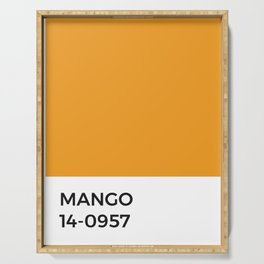 Mango Pantone Chip • Orange • Fruit • India • Kitchen • Foodie Print • Minimal • Modern Design • Art Serving Tray