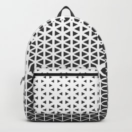Halftone Black Triangles Pattern Backpack