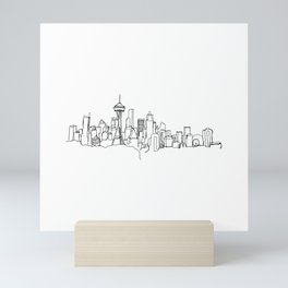 Seattle Skyline Drawing Mini Art Print