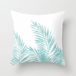 Palm Leaves Island Paradise Throw Pillow