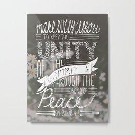 Ephesians 4:3 Metal Print