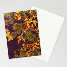 rich floral on purple Stationery Cards