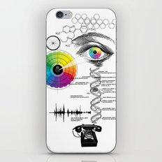 seeing, hearing and knowing iPhone & iPod Skin