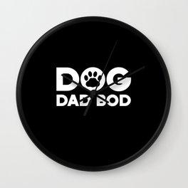 Dad Bod Dog Dad Bod Wall Clock