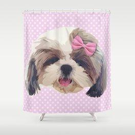 Cute Shitzu Dog Shower Curtain