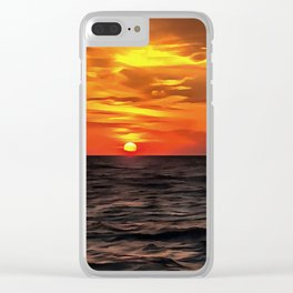 Sunset Over The Mediterranean Sea Clear iPhone Case