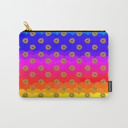 Rainbow and yellow flowers Carry-All Pouch