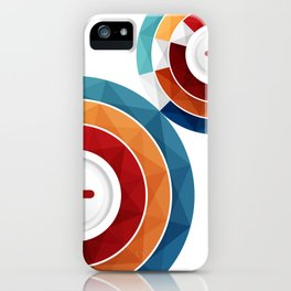 Geometric Modern Digital Abstracr iPhone Case