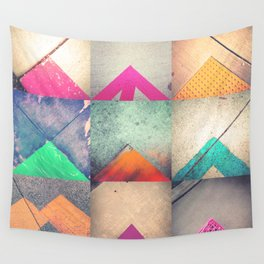 Bright Triangles Wall Tapestry