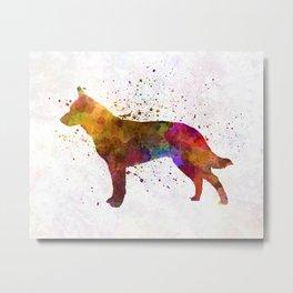 Australian Cattle Dog in watercolor Metal Print