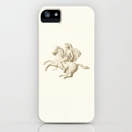 Alexander the Great on his horse Bucephalus or Bucephalas iPhone Case