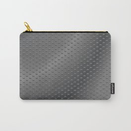 Dimpled Metal Texture Gunmetal Carry-All Pouch
