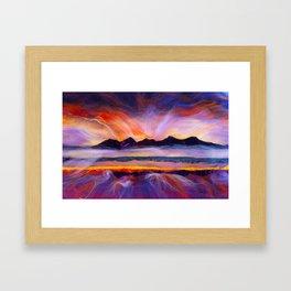 Isle of Rhum- Hebrides, Scotland Framed Art Print