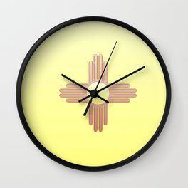 Flag of new mexico  -with color gradient Wall Clock