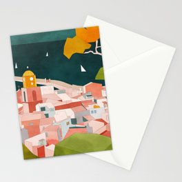 south france coast landscape Stationery Cards