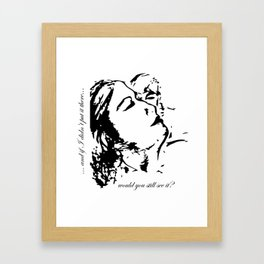 Invisible Injury Framed Art Print