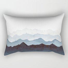 Indigo Mountains Landscape Rectangular Pillow