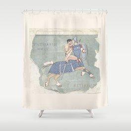 Centaurus and Retiarius Shower Curtain
