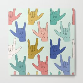 I Love You (Icy Hot Palette) Metal Print